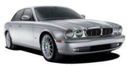 Chauffeur driven cars in Nottingham area, including the long wheel based version of the new Jaguar XJ